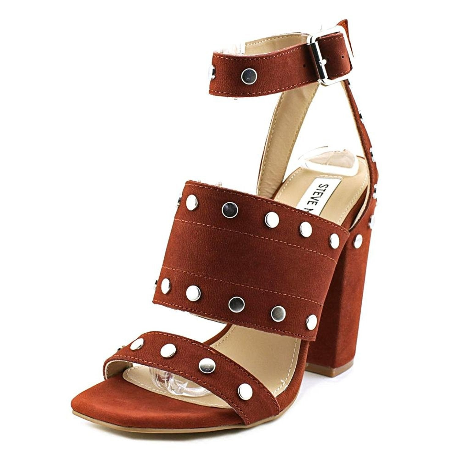 Steve Madden Womens Jansen Leather Open Toe Casual Ankle Strap Sandals  (More options available)