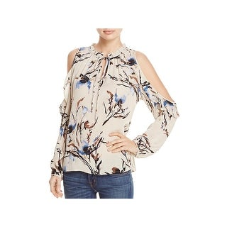 Vintage Havana Womens Blouse Printed Cold Shoulder
