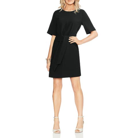 Vince Camuto Womens Wear to Work Dress Tie Front Short Sleeves