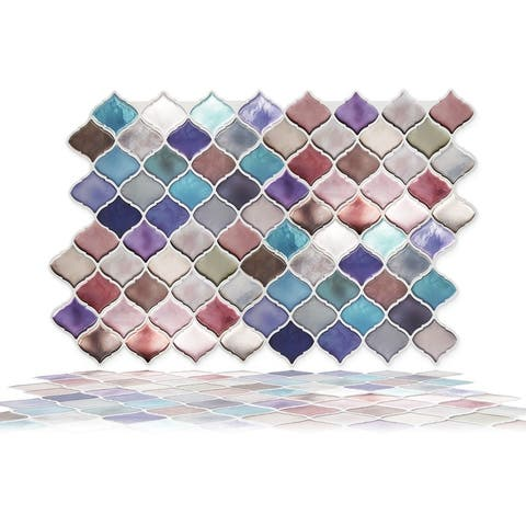 Walplus Arabesque Jewel Peel and Stick Backsplash Tile Stickers Mosaics