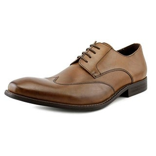 Kenneth Cole NY Main Lane Men Wingtip Toe Leather Brown Oxford