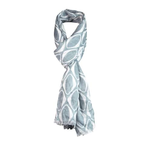 Echo Design Women's Rounded Diamonds Wrap Scarf - Grey - One Size Fits Most