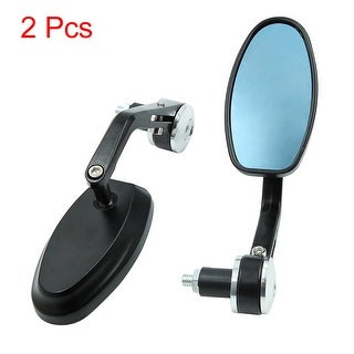2pcs Sliver Tone Motorcycle Motorbike Handle Bar End Rearview Side Mirror