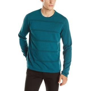 Calvin Klein CK Sweater X-Large Master Green Striped Crewneck Pullover - XL