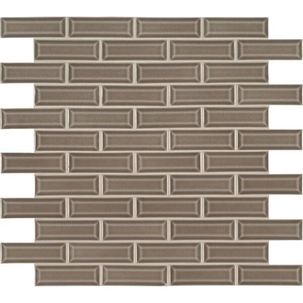 "MSI SMOT-PT-AR-2X6B Highland Park - 2"" x 6"" Brick Joint Mosaic Tile - Glossy Ceramic Visual - Sold by Carton (10 SF/Carton)"