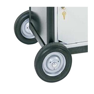 """OF-LEB2 - Offex 4"""" Rubber Big Wheel Assembly - Black"""