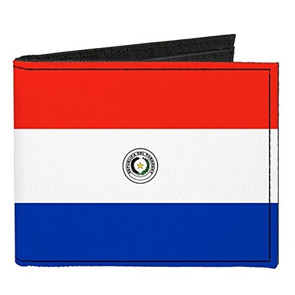 Buckle-Down Canvas Bi-fold Wallet - Paraguay Flag Accessory