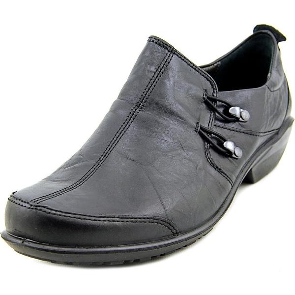Romika Citylight 45 Women Round Toe Leather Black Loafer