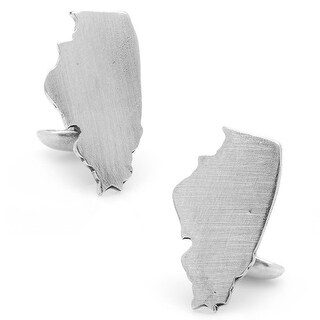 Solid Pewter State of Illinois Map Cufflinks
