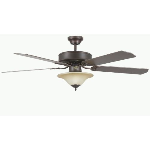 "Concord 52HES5E Heritage Square 52"" 5 Blade Indoor Ceiling Fan with Light Kit, Downrod, and Blades Included"