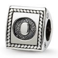 Sterling Silver Reflections Letter O Triangle Block Bead (4mm Diameter Hole) - Thumbnail 0
