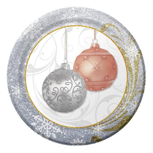 Club Pack of 96 All That Glitters Round Premium Strength Disposable Lunch Plates 7""