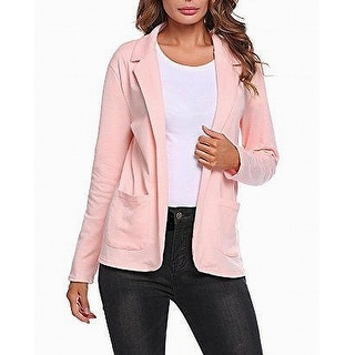 Link to Meaneor Womens Blazer Jacket Peach Pink Size XXL Relaxed Open-Front Similar Items in Women's Outerwear