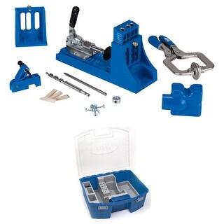Kreg K4MS Jig Master System and KTC55 System Organizer for Accessories Bundle - Blue