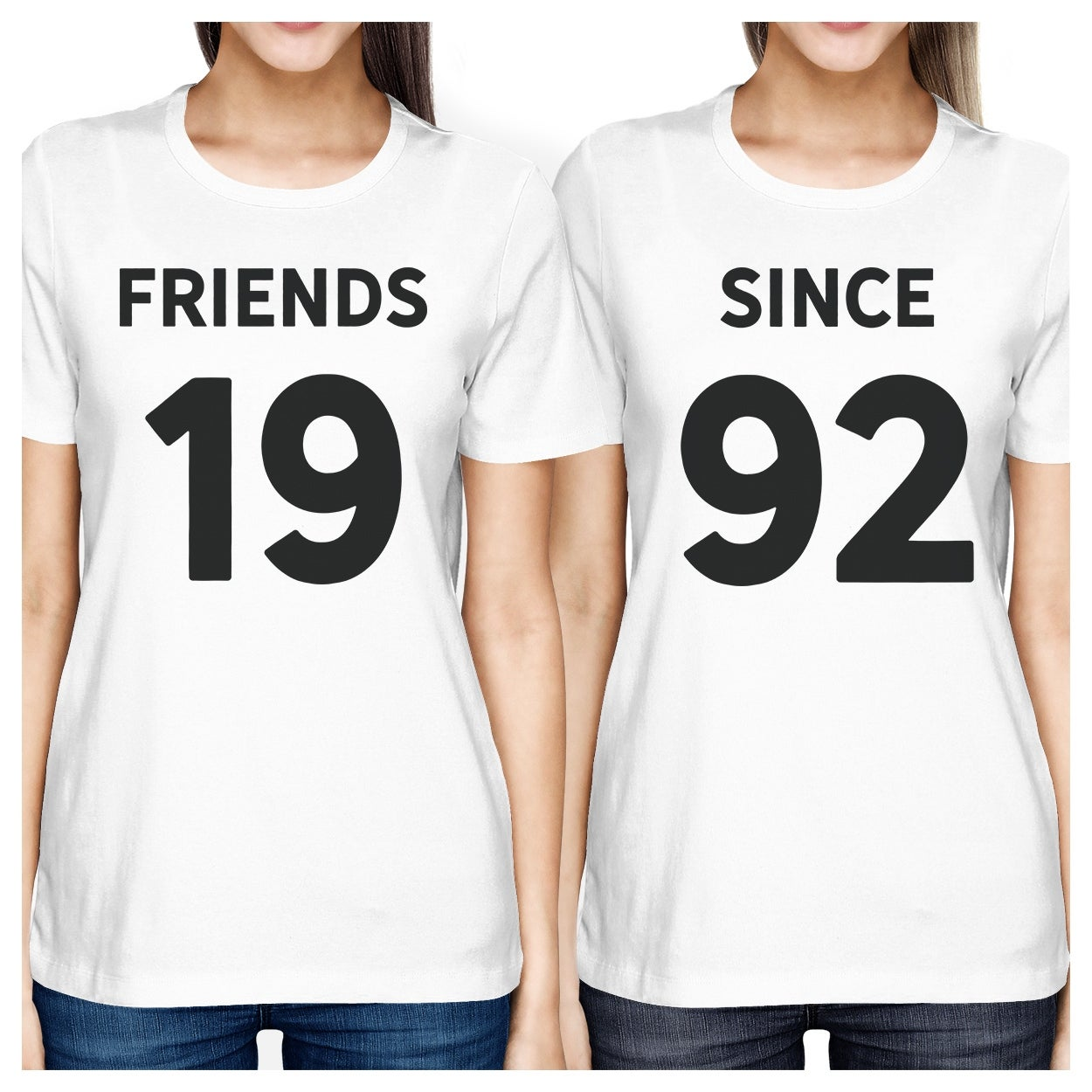 87178931b Shop Friends Since Womens Best Friend T-Shirts Custom Birthday Gifts - Free  Shipping On Orders Over $45 - Overstock - 17864067