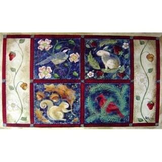 Custom Printed Rugs AWV059 Four Seasons Doormat Rug - 18 x 30 in.