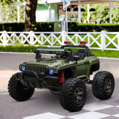Aosom Ride On Car Off Road Truck SUV 12 V Electric Battery Powered with Remote Control and MP3, Adjustable Speed