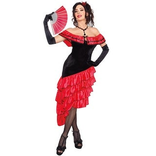 Dreamgirl Spanish Dancer Adult Costume - Red/Black