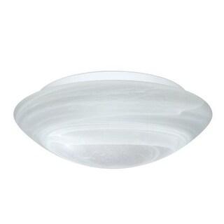 Besa Lighting 977052C Nova 3 Light Flush Mount Ceiling Fixture with Marble Glass