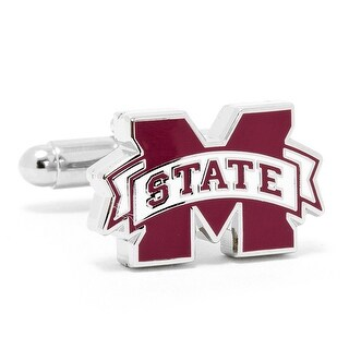 Silver Plated Mississippi State Bulldogs Cufflinks