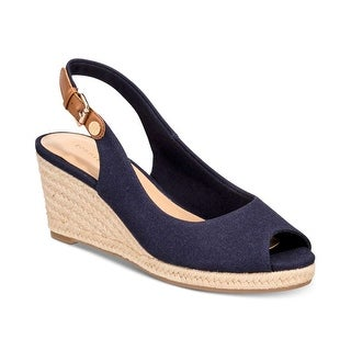 Tommy Hilfiger Womens Nhalia2 Fabric Peep Toe Casual Espadrille Sandals