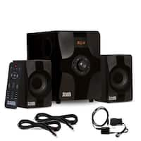 Acoustic Audio AA2131 Bluetooth 2.1 Speaker System w/ Optical In & 2 Ext. Cables