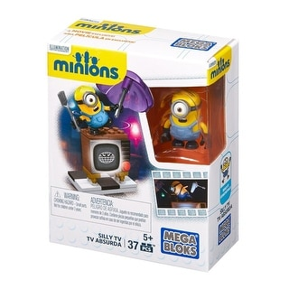 Minions Mega Bloks 37-Piece Construction Set, Silly TV - Multi