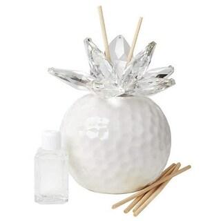 Debora Carlucci Decorative Aroma Reed Diffuser with Crystal Lotus Top, Aria Mediterranea Scent