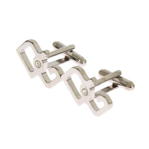 Dolce & Gabbana Silver Brass Logo Cufflinks