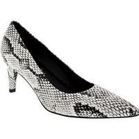 Walking Cradles Women's Sophia Pump Black/White Snake Print PU