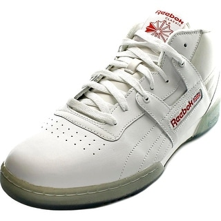 Reebok Workout Mid Men Round Toe Leather Sneakers