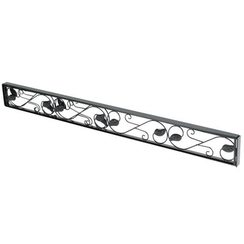 Sliding Door Security Bar - Adjustable Black Glass Patio Door Jammer - Door Stopper Blocker Fits in Track To Prevent Opening