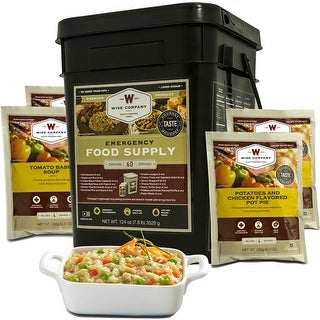 Wise prepared meals 01-160 wise entree only kit 60 serving black bucket