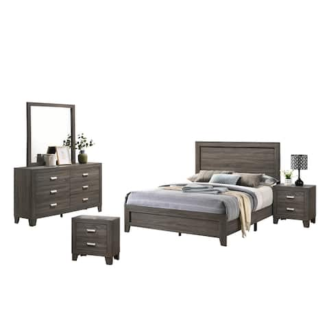 Best Quality Furniture Anastasia 4-Piece Bedroom Set Extra Nightstand