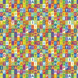 "Printed Gift Wrap 5'X30"" Roll-Happy Birthday - happy birthday"