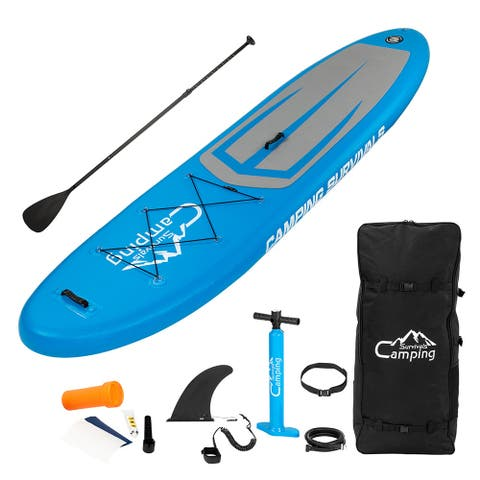 Campingsurvivals 11' Inflatable Stand up Paddle Board W/SUP Accessories & Storage Package - 11 ft