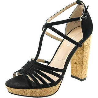 Charles By Charles David Faint Women  Open Toe Suede Black Sandals