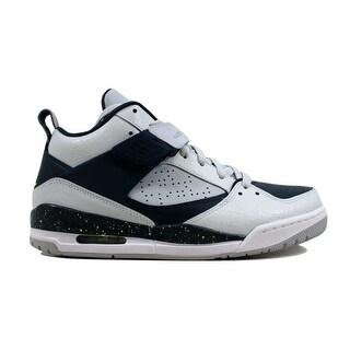 Shop Nike Men S Air Jordan Flight 45 Pure Platinum Volt