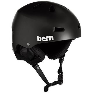 Bern Watts Thinshell w/ 8Tracks Audio Snow Helmet Mens - matte oxblood red - S/M