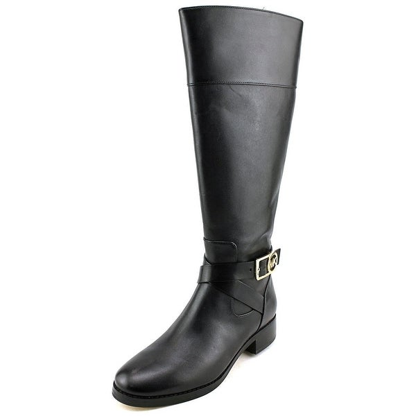 Michael Michael Kors Bryce Tall Boot Women Leather Black Knee High Boot