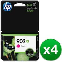 HP 902XL High Yield Magenta Original Ink Cartridge (T6M06AN) (4-Pack)