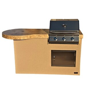 6' Mini Maui Outdoor Kitchen BBQ Island Grill