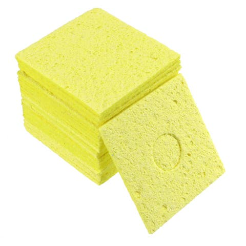 Soldering Sponge 60x60x11mm for Iron Tips Cleaner, Square Yellow 20pcs - Square Thick 20pcs