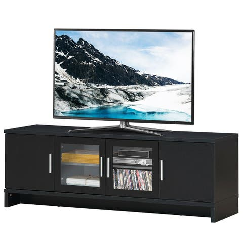 Gymax TV Stand Media Entertainment Center for TV's up to 70'' w/ - 65'' X 15.5'' X 22'' (L X W X H)