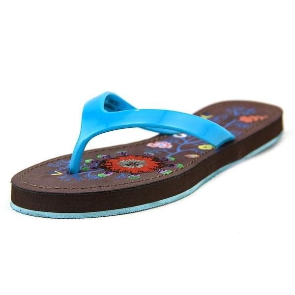 Nine West Nutso Women Open Toe Synthetic Blue Flip Flop Sandal