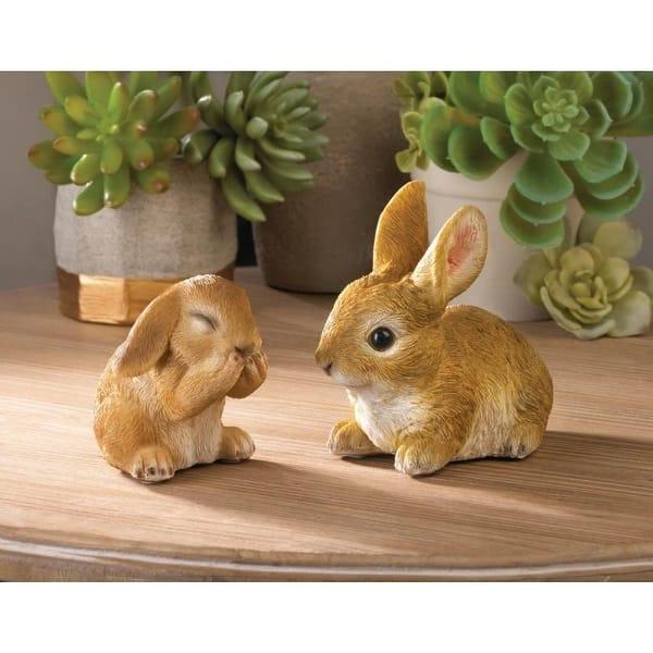 Vivid Bunny Figurine And Happy Bunny Figurine On Sale Overstock 28077243