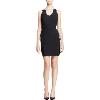 Black Halo Womens Clubwear Dress Textured Sleeveless - 6