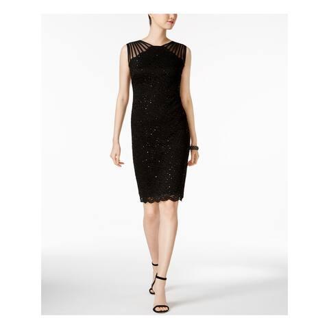 R&M RICHARDS Black Sleeveless Knee Length Dress 16