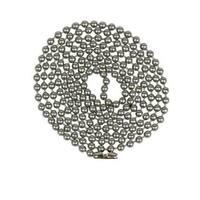 Jandorf 60324 Beaded Chain, #6, Brushed Pewter