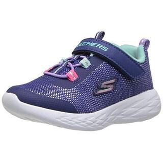 Skechers Kids Girls' Go Run 600-Sparkle Runner Sneaker, Nvmt, 2.5 Medium Us Little Kid
